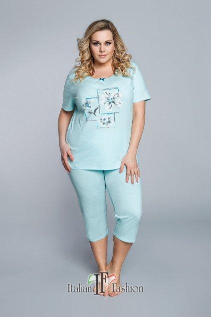 Dámské pyžamo Italian Fashion Bawaria 3/4 tyrkys