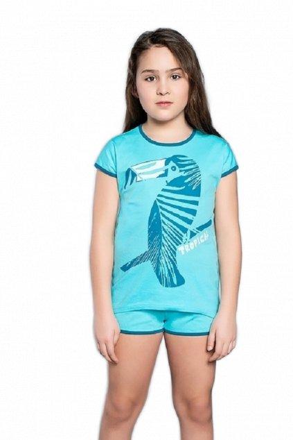 Dívčí pyžamo Italian Fashion Tropicana tyrkys