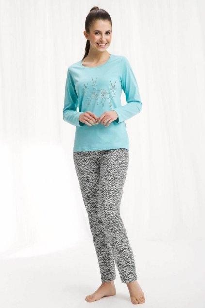 Dámské pyžamo Luna 443 tyrkys