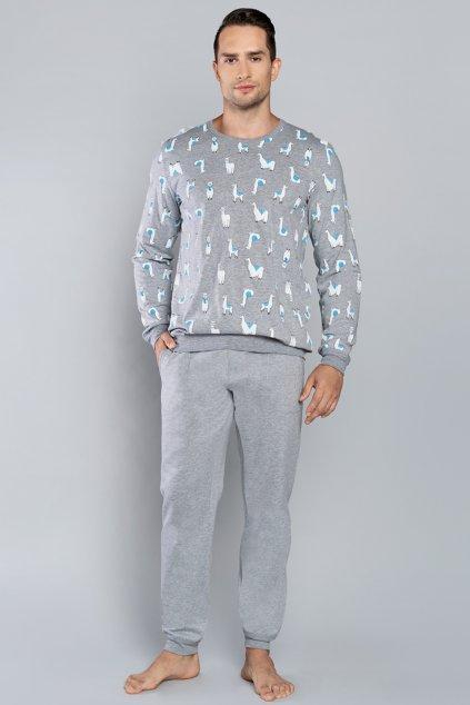 Pánské pyžamo Italian Fashion Lama šedá
