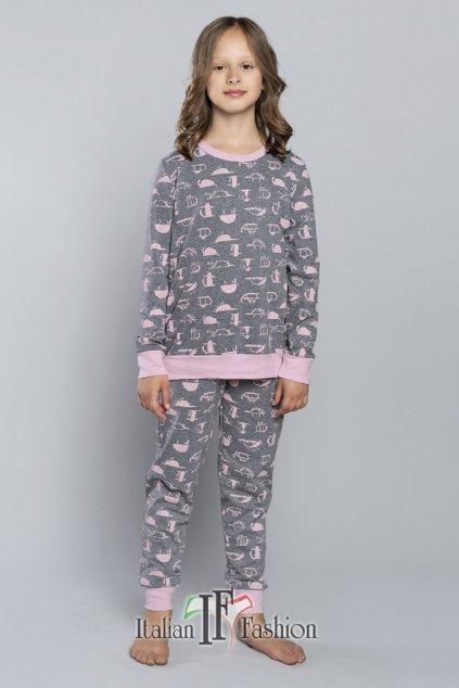 Dívčí pyžamo Italian Fashion Fiona šedá