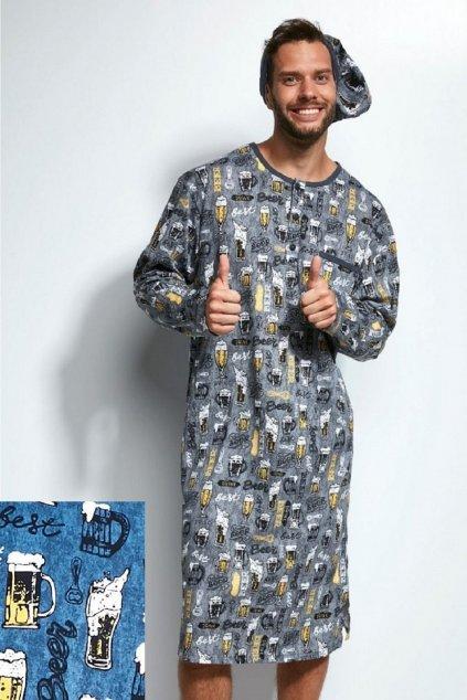 Pánská noční košile Cornette 625303 Beer modrá