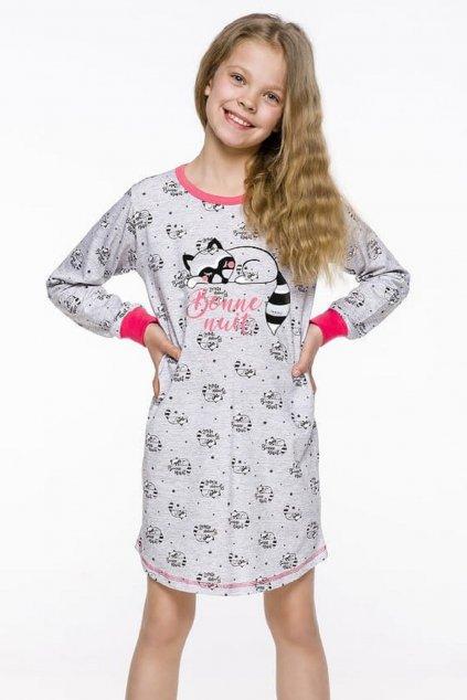 Noční košile dívčí Taro Malina 1014 Cat