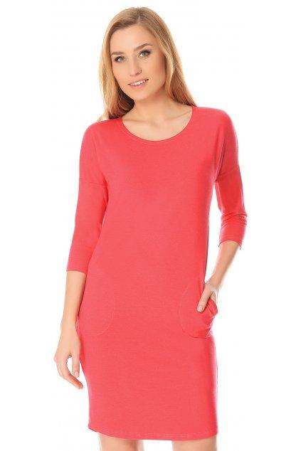 Dámská noční košile De Lafense 543 Paula červená
