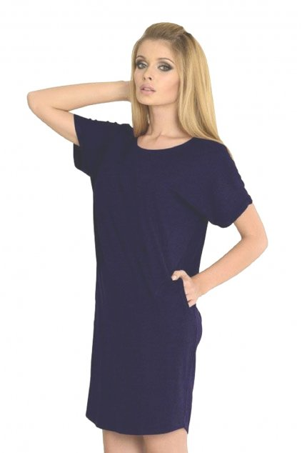 Dámská noční košile De Lafense 523 modrá
