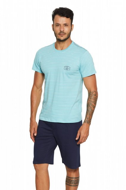Pánské pyžamo Henderson 37829 modrá