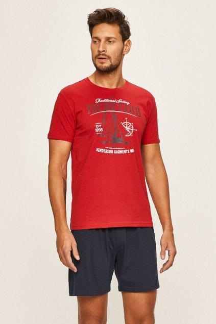 Pánské pyžamo Henderson 37845 červená