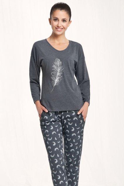 Dámské pyžamo Luna 548 grafit