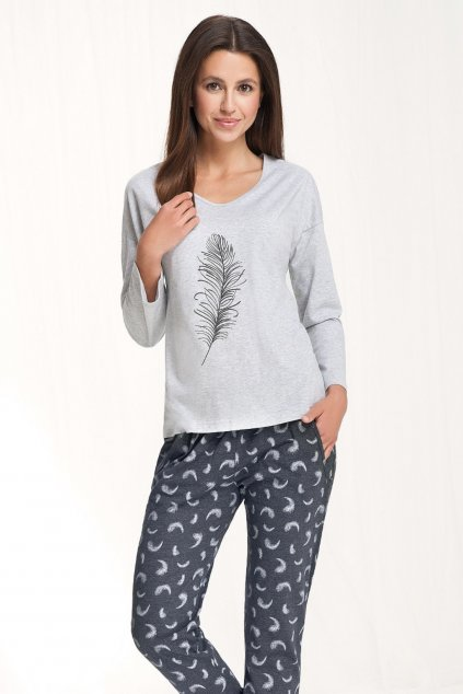 Dámské pyžamo Luna 548 šedá
