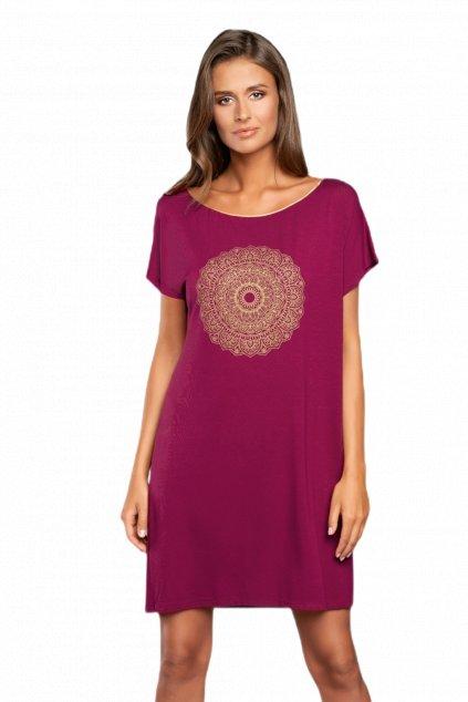 Dámská noční košile Italian Fashion Mandala vino