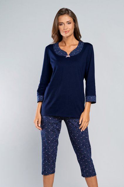 Dámské pyžamo Italian Fashion Saloma granat