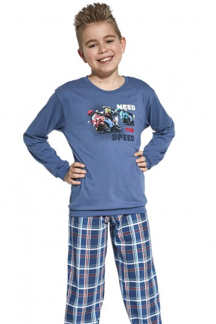 Chlapecké  bavlněné pyžamo Cornette 966/112 Need for Speed