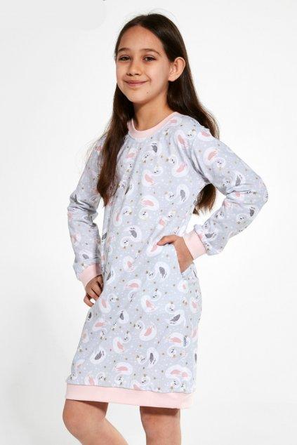 Noční dívčí košile s dlouhým rukávem Cornette 397/137 Swan 3