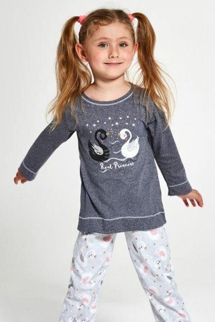 Pohodlné dívčí pyžamo s dlouhým rukávem Cornette 379/131 Swa