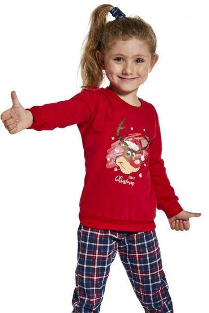 dívčí pyžamo s dlouhým rukávem Cornette 592-594/130 Reindeer