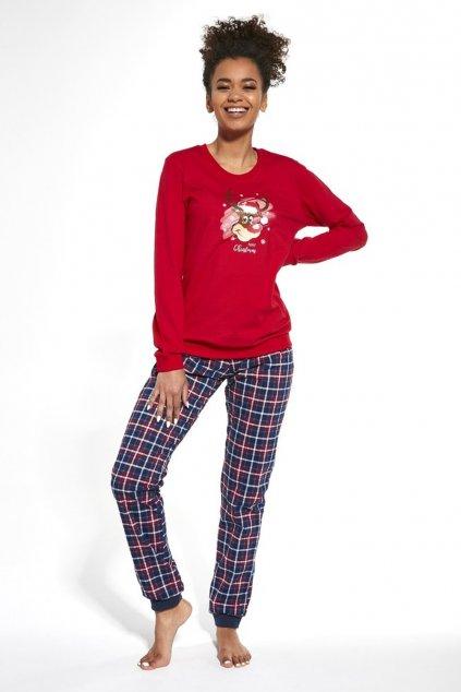 Dámské  vánoční pyžamo s dlouhým rukávem Cornette 671/261 Reindeer