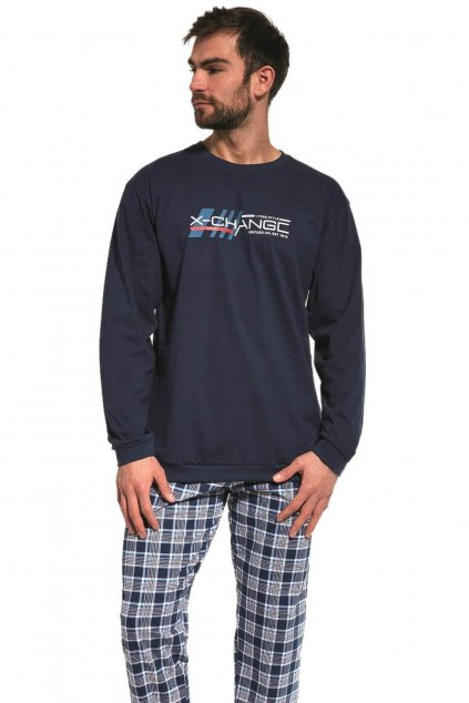 Pánské pyžamo s dlouhým rukávem Cornette 115/157 Street wear