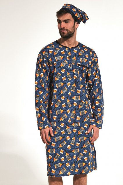 Pánská noční košile s dlouhým rukávem Cornette 110/04