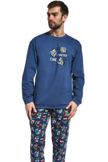Pánské pyžamo s dlouhým rukávem Cornette 115/158 Cube Master.