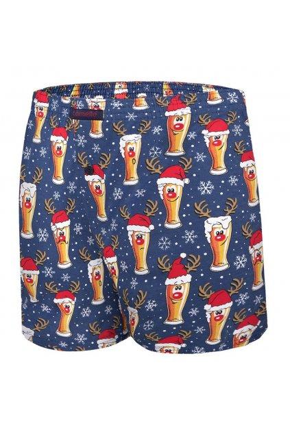 Pánské vánoční boxerkyCornette 016/12 Beer 4 s pěkným potiskem