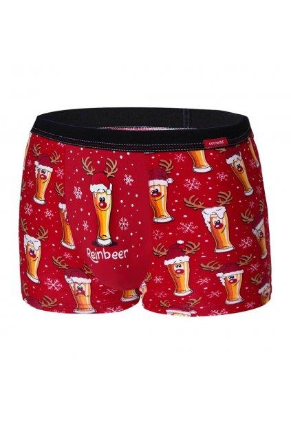 Vánoční pánské boxerky Cornette 007/54 Beer