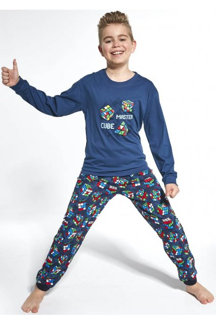 Chlapecké pyžamo s dlouhým rukávem Cornette 593/102 Cube Master