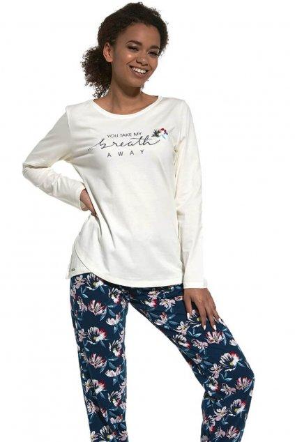 dámské pyžamo s dlouhým rukávem Cornette 161/251 Breath