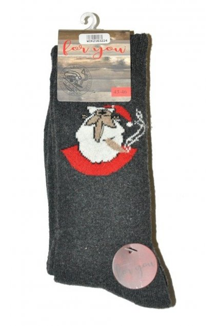 Veselé teplé ponožky For You 21632 grafit