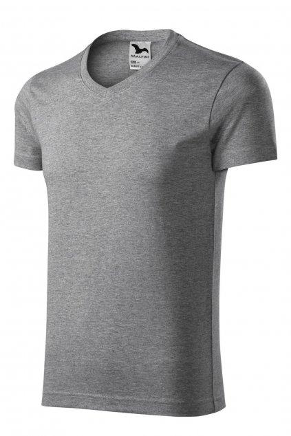 Pánské šedé tričko s krátkým rukávem