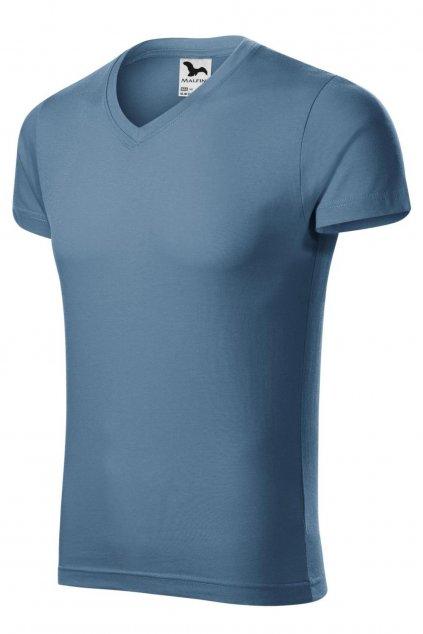 Panské modré triko s krátkým rukávem