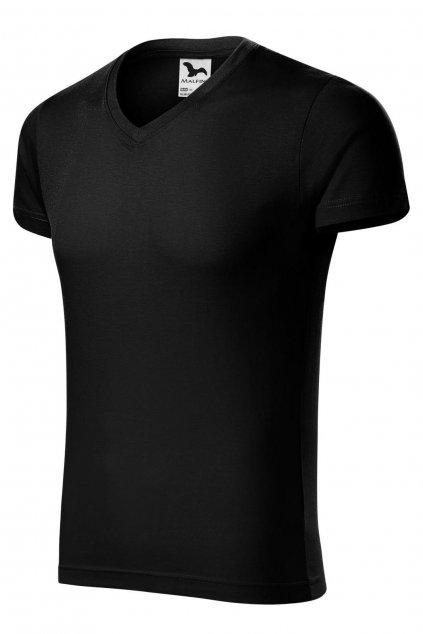 Pánské černé tričko s krátkým rukávem