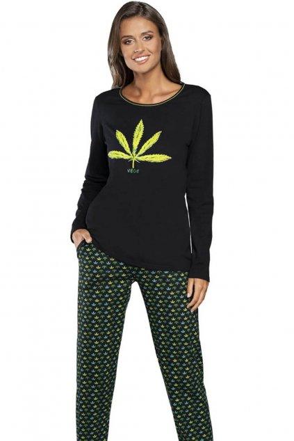Dámské pyžamo s dlouhým rukávem Italian Fashion Vege