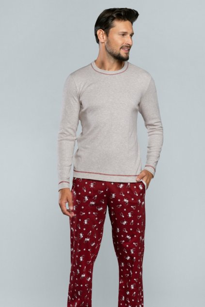 Pánské pyžamo s dlouhým rukávem Italian Fashion Rupert