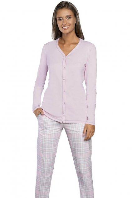 Dámské pyžamo s dlouhým rukávem na knoflíky Italian Fashion Dalaja
