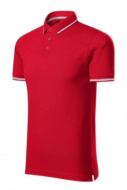Pánská červená polokošile s krátkým rukávem