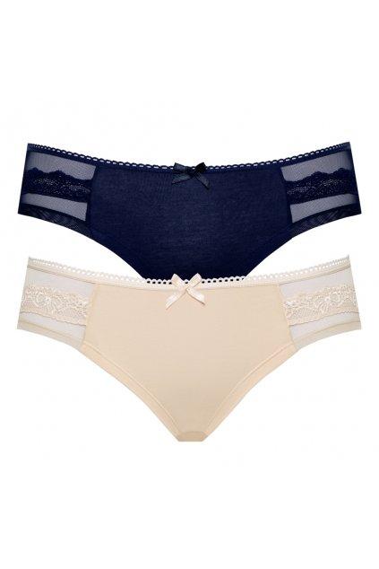 Dámské bavlněné kalhotky s krajkou Leptir.