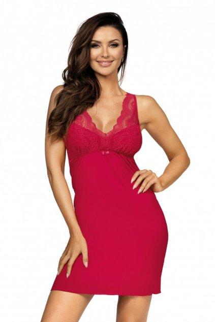 dámská červená noční košilka Donna Kasiya ll