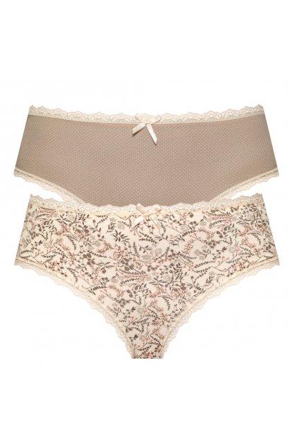Dámské bavlněné kalhotky s krajkou značky Leptir