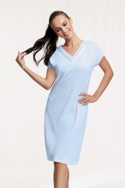 Dámská bavlněná noční košile s krátkým rukávem Luna 103