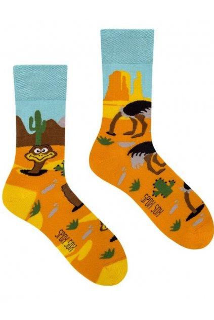 Veselé ponožky Spox Sox hlava v písku
