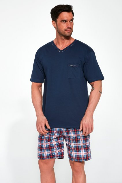 Pánské modré pyžamo Cornette329/113 Steve