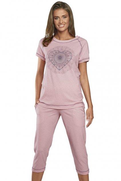 Dámské bavlněné pyžamo s krátkým rukávem Italian Fashion Elixir.