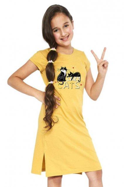 Dívčí noční košile Cornette 493-494/90 Cats 2.