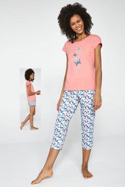 Dámské bavlněné pyžamo Cornette 665/202 Tree Buttherflies.