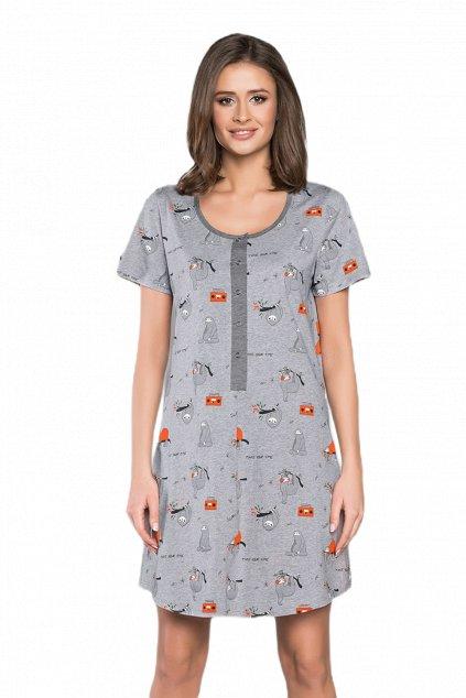Dámská bavlněná noční košile s krátkým rukávem Italian Fashion Orso.