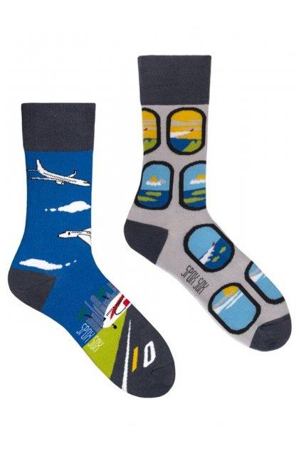 Veselé ponožky Spox Sox letadla.
