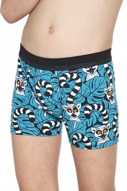Chlapecké bavlněné boxerky s elastanem Cornette700-701/109 Lemur
