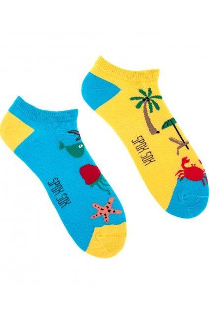 Veselé kotníkové ponožky Spox Sox beach
