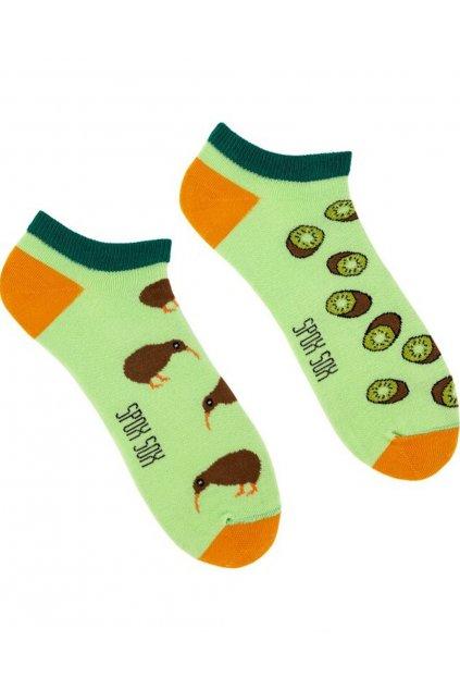 Veselé kotníkové ponožky Spox Sox kiwi.