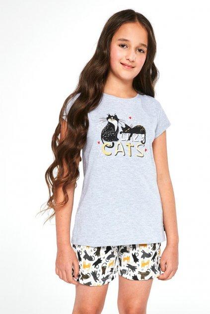 Dívčí pyžamo s krátkým rukávem Cornette 787-788/87 Cats